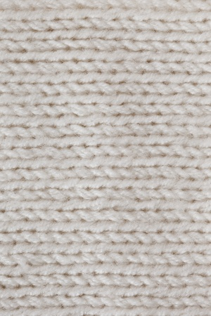 White knitted horizontal textured background  photo