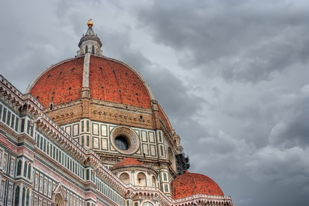 Cathedral Church Duomo basilica di santa maria del fiore in Florence, Italy photo