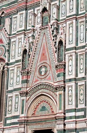 florence italy: Detail of Cathedral Church Duomo basilica di santa maria del fiore in Florence, Italy