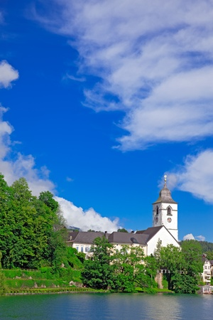 The beautiful village St  Wolfgang on the lake Wolfgangsee Austria Stock Photo - 13403931