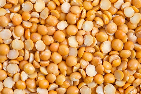 Dry split yellow peas texture background  Great for soups, puree  Stock Photo - 13404010