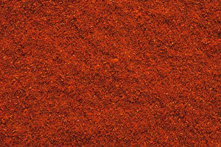 chiles secos: Ground Paprika textura, fondo full frame utiliza para arroces, guisos, colores y sopas, carnes
