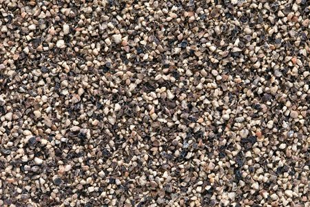 Crushed  Black pepper  Piper nigrum  texture, full frame background  Used as a spice in cuisines all over the world  The plant is also used in medicine  photo
