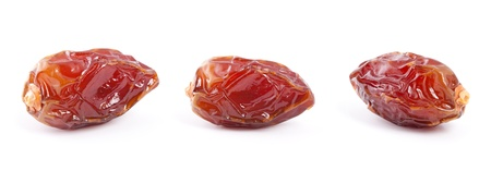Dryed Date fruit isolated on white background  photo
