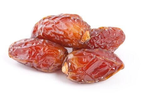 deglet: Dryed Date fruit isolated on white background
