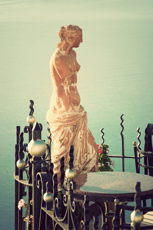 Statue of Aphrodite in Santorini, Greece photo