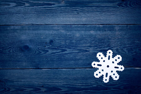 old fashioned christmas: Christmas decoration with paper snowflake  - copy space Stock Photo