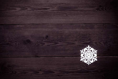 Christmas decoration with paper snowflake  - copy space photo