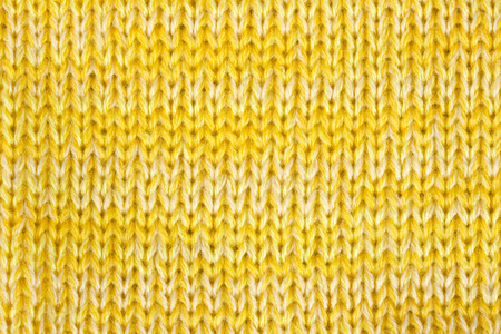 Yellow knitted textured background photo