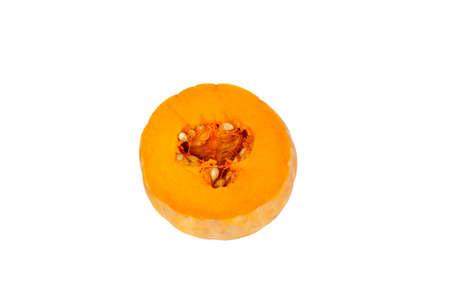 Half of pumpkin isolated on white, studio shot Imagens