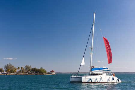 carribean: Catamaran sailing in the Carribean, Cuba