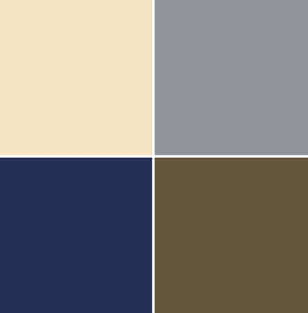 4 neutral color swatches from New York seasonal Color Trend Report for Autumn / WInter 2020-2021. Fashionable colors concept Foto de archivo - 140000741