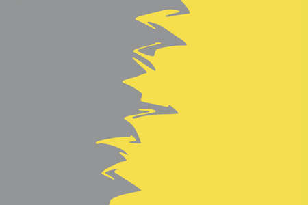 Double color gray and yellow modern flat lay backgound. Top view, flat lay. Horizontal