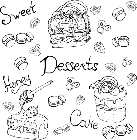 Illustrations can be used in menus signs, banners, flyers