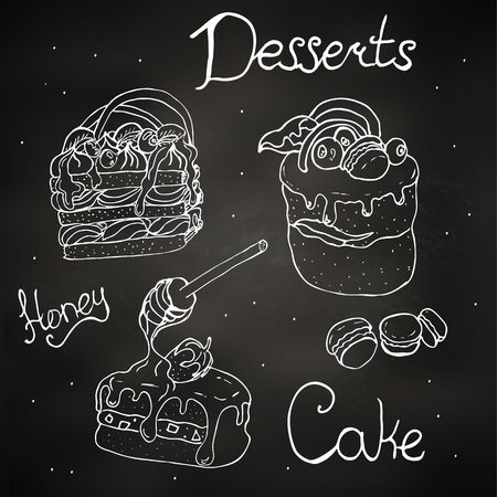 Illustration of a notepad on a chalkboard.