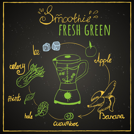 green smoothie, fresh smoothie