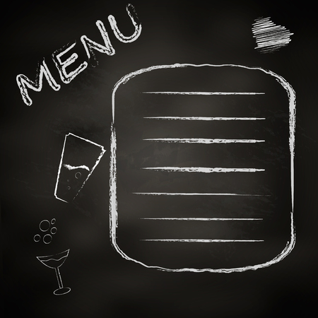 The chalk board menu.