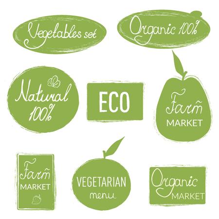 Natural, green decorative elements 向量圖像