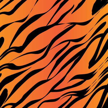 Seamless pattern imitating the color of the tiger orange stripes and black stripes 向量圖像