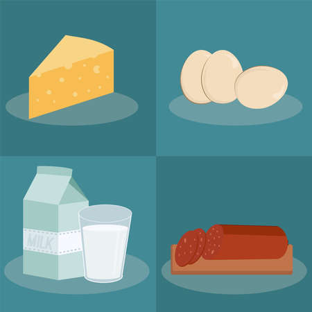 food and milk icons