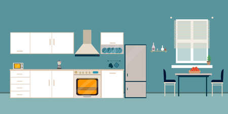 There is also a kitchenette in the background.