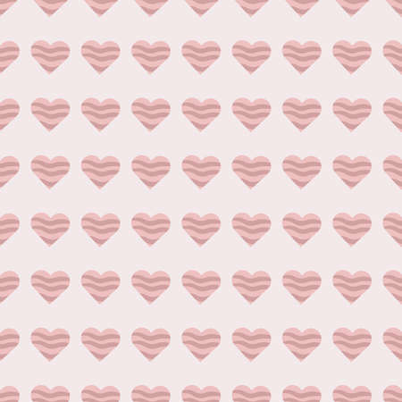 beautiful cute seamless pattern with pink heart shapes for valentines day holiday for textile and gift paper Stock Illustratie