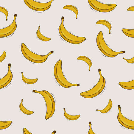 seamless pattern with exotic banana fruits Stock Illustratie