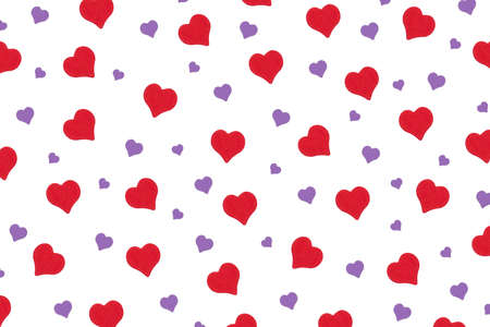 repeating pattern of hearts for the holiday valentine's day Stockfoto