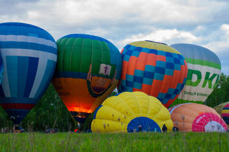 Kiev Ukraine - May 5, 2021 balloons are lifted into the sky at a festival in nature