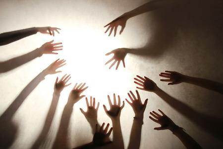 backlit: hands backlit