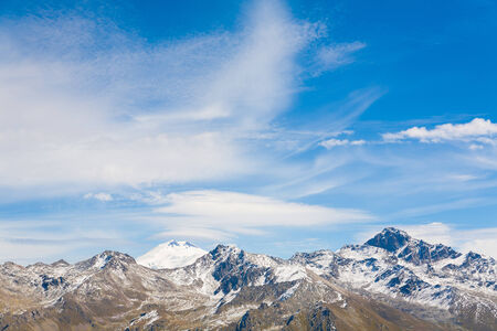 beautiful elbrus in the mountains for tourists