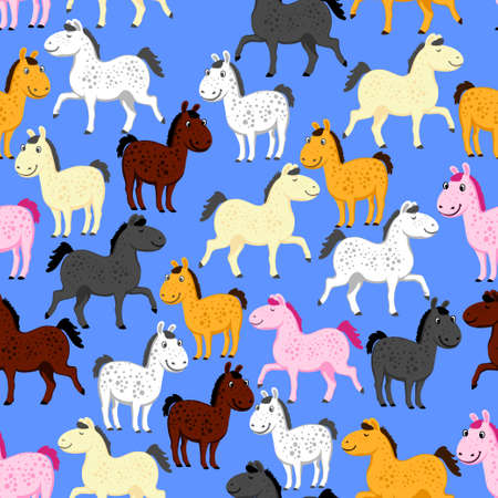 Pony pattern vector illustration 矢量图像