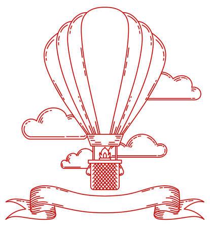 Poster con cornice vintage steampunk con dirigibile, bici, ingranaggi, ingranaggi. Gemme di sfondo della bicicletta, pulsanti