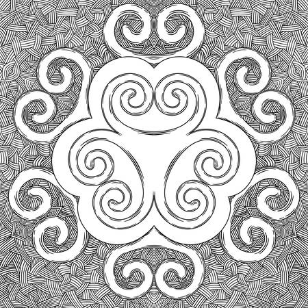 The ornament is round, pattern, curls Scandinavian ornaments Illustration