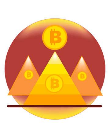 Bitcoin of the pyramid and bitcoin coin