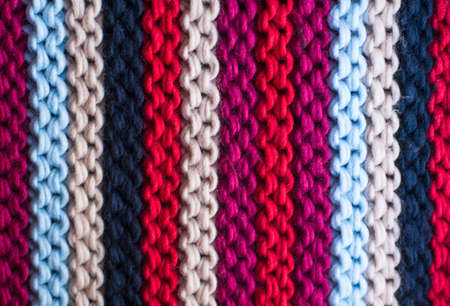 Colorful knitted background close-up