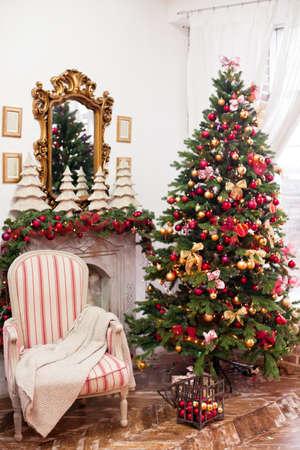 christmas decor: Christmas decor, Christmas Background, fireplace, Christmas tree