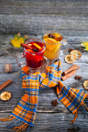 Still life seasonal and holidays concept. Christmas mulled wine