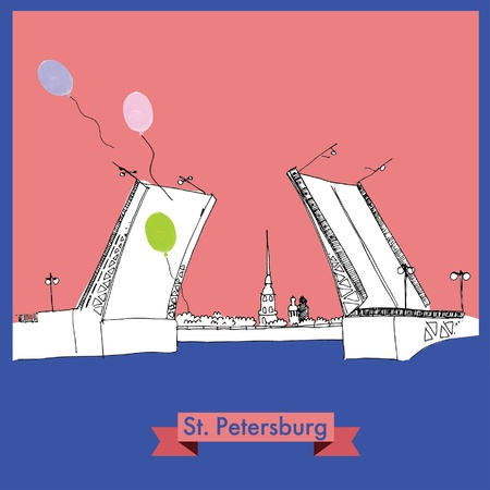 st petersburg: St  Petersburg_vector