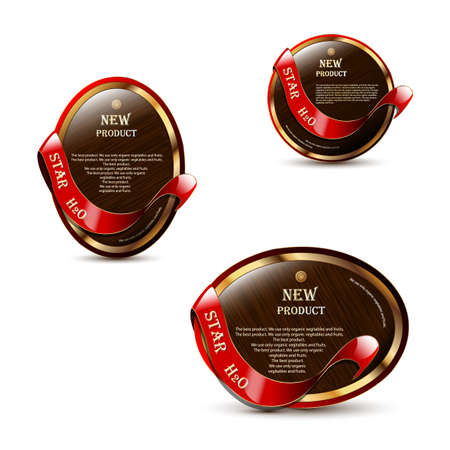 Royal red labels  Use for your product Vector