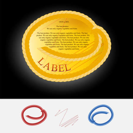 oval  alcohol: Royal yellow label Illustration