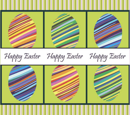 banding:  card greeting happy Easter and the image of the eggs Illustration