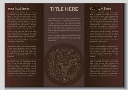 Vector ethnic booklet with the head of a Mayan Illustration