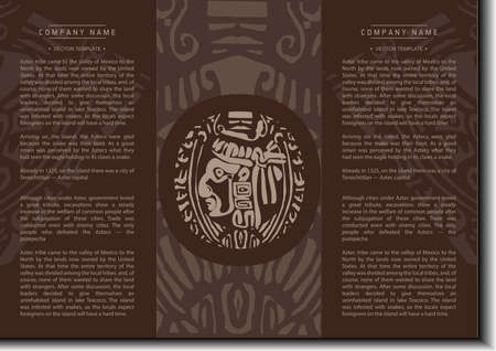 ethno: Vector ethnic booklet with the head of a Mayan Illustration