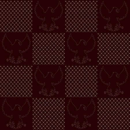 cor: vintage Royal vector seamless texture with eagle pattern