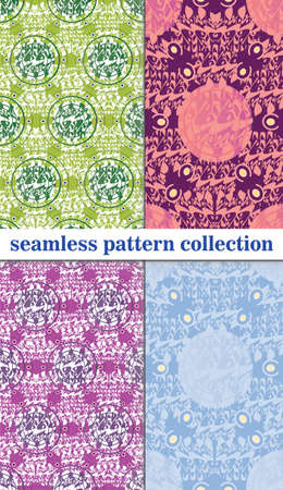 cor: vector seamless patterns beautiful Oriental motifs Illustration