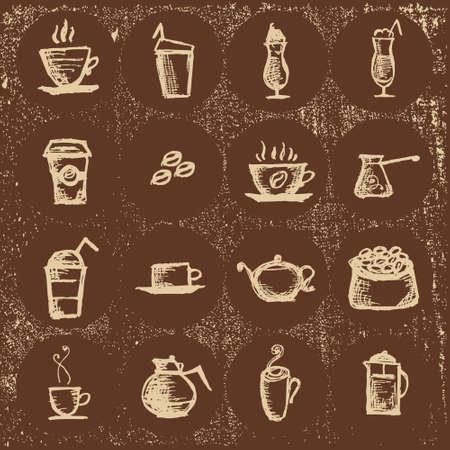 cofee cup: Vector  for restaurants, coffee, Turk coffee,coffee Cup, hot drink,coffee beans Illustration