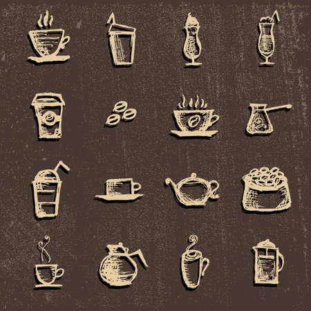 cofee cup: Vector for restaurants, coffee, Turk coffee,coffee Cup, hot drink,coffee beans