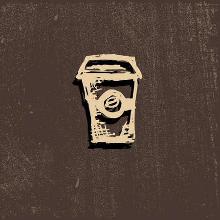 cofee cup: Vector icon of coffee Cup, coffee, beverage, aroma coffee, smoke, steam from coffee, hot coffee