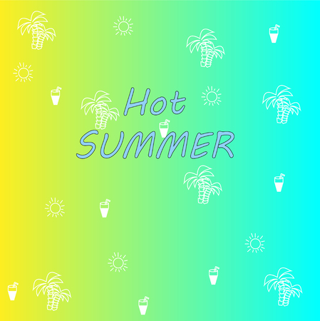 Hot Summer. relaxing sunny beach pattern background. Vector illustration of a gradient.